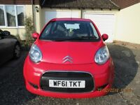 Citreon C1 VTR+, 5 DOOR, RED, EXC. CONDITION, LOW MILEAGE, GRP 1 INSURANCE, IDEAL FOR LEARNER