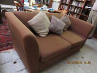 Sofa bed mid brown, Habitat 'ish (Fm Cambridge Re-Use)