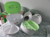 Babies storage box, potty, wash bowls