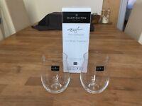 BRAND NEW Dartington Crystal Stemless Wine Glasses/ tumblers
