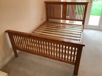 **Bedroom Package** Wooden Double Bed, Bedside Cabinet & 5 Draw chest
