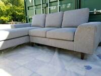 EX DISPLAY Designer Grey Chaise Corner Sofa DELIVERY AVAILABLE