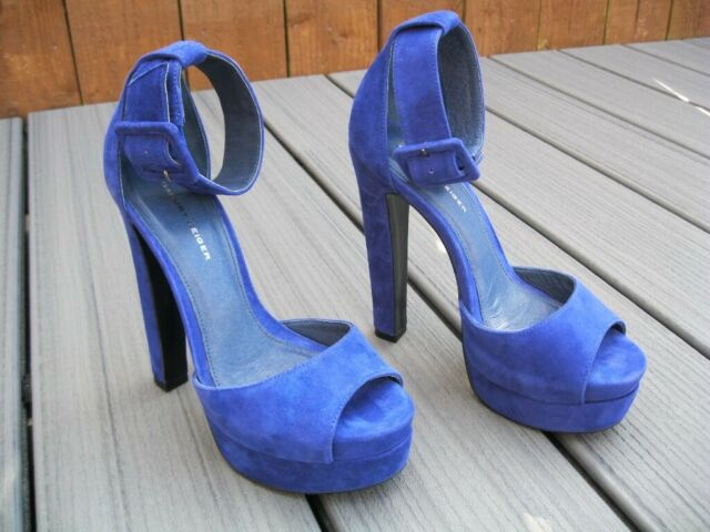 c546db434c2 Kurt Geiger Miss KG Halo Blue Suede Platform Heels Sandal Shoes Size 38 UK5  -Very Good Condition | in Newcastle, Tyne and Wear | Gumtree