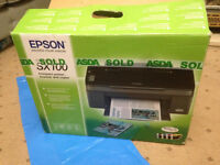 Epson Stylus SX100 Printer, New Boxed, With CD & cables. Needs new Catridges. FREE Ink Refills x2