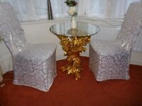 Glass Coffee Table with beautiful gold and diamonte was £350
