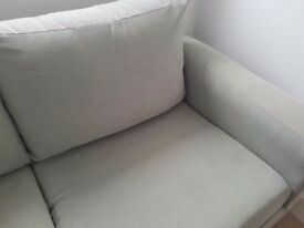 Pale green sofa bed