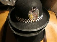 LADIES POLICE WOMEN FANCY DRESS HATS BLACK X 4 PARTY OR HEN DO