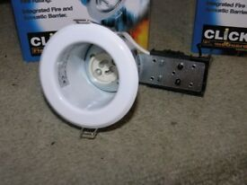 8 New Unused Boxed Click Flameguard Downlighters Weymouth