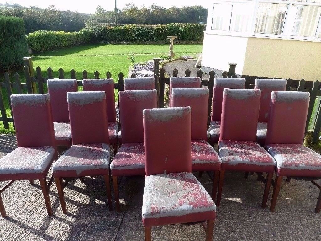 Recover Shabby Chic Project Chairs £3 Each Single Leather Dinning Chairs Delivery Available