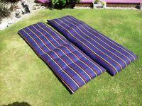 2 Sunlounger Cushions.