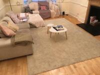 11ft x 8ft cream rug