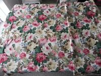 2 x Curtain material - Sandersons Fabric (£25), and oatmeal coloured floral pattern (£10)