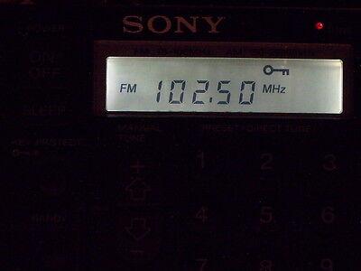 SONY ICF-SW1 RADIO CAPACITOR REPAIR KIT PLUS DISPLAY UPGRADE
