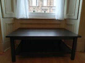 Black Ikea Hemnes Coffee Table