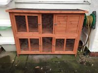 Two tier rabbit/guinea pig/ferret hutch