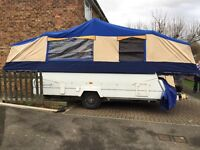Conway Crusader 2004/5 Folding Camper 6 berth w. toilet, hot water, awning, cooker/hob, Trailer Tent