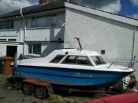 Shetland Microplus 502 with 60hp Yamaha outboard engine and double axle trailer