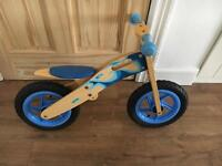 Wooden toddler balance bike age 18 months -3/4 years