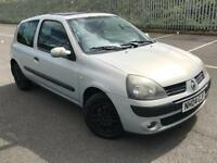 2004 RENAULT CLIO DYNAMIQUE 1.2 * 3 DOOR * PETROL* IDEAL FIRST CAR * MOT * P/X * DELIVERY