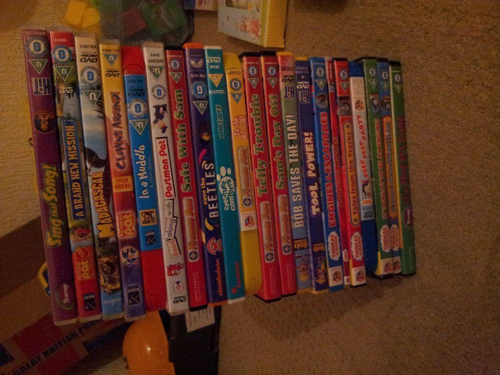 Kids Dvd Bundle Disney Pixar Madagascar Postman Pat