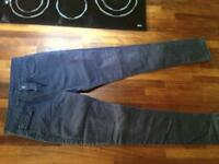 Girls navy blue chinos