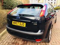 2008 FORD FOCUS 1.8 TDCI 115 BHP LOW MILEAGE 0NLY 75000 FULL SERVICE HISTORY MOT 11 MONTHS