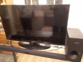 "40"" Samsung LED HD TV c/w Samsung soundbar"