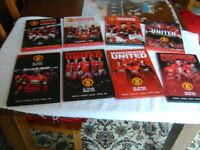 SET OF 9 MANCHESTER UNITED ANNUALS