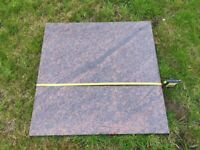 Brown marble approx 67.5mm square x 20mm thick