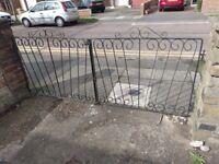 Wrought iron driveway gates used
