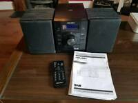 DAB/ CD Micro Hi-Fi System Bush with 2 speakers