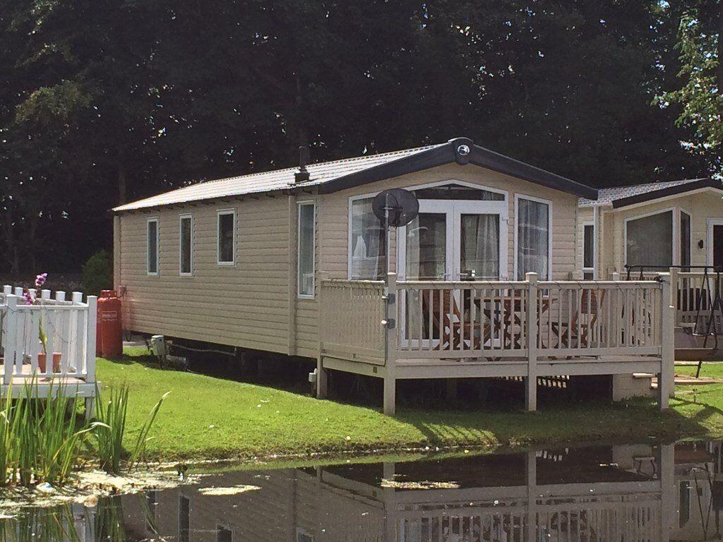 Haggerston Castle Luxury Lakeside caravan for hire