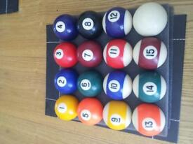 American Pool Balls Complete