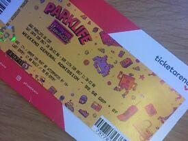 1 x ParkLife Weekend ticket 10-11 June 2017