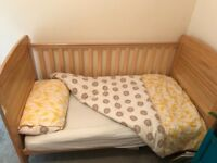 Cot bed for sale (suitable from birth - 6 years)