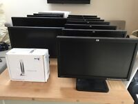 Monitors, computer, cat5e, keyboards, spares, router, kettle leads - job lot