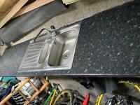 Kitchen worktop and sink