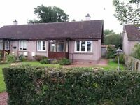 1 bedroomed semi detached house with garden in Kinrossie village .