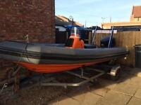 Avon sea rider 5.4m with 130hp and trailer all ready to go boat rib swap for jetski