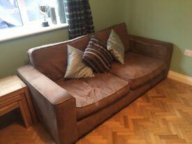 2 & 3 seater brown sofas