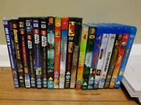 19 film DVD and blu ray Disney - DreamWorks - Family blu ray bundle