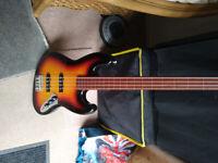 Fretless Jazz Bass by HarleyBenton