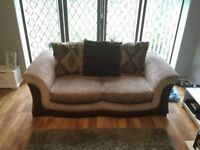 2 seater pillow back DFS sofa bed