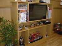 For Sale Narrowboat TV Cabinet with Free View TV & Separate DVD Player