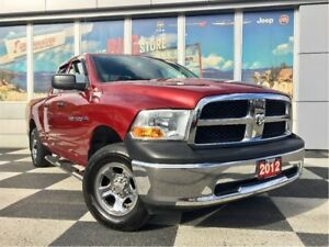 2012 Ram 1500 ST 4x4 QUAD CAB Deep Cherry Red, Low Kms