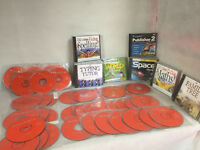 PC CD Rom Games and Educational JOB LOT (56 Discs)