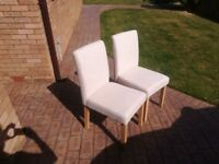 4 Nearly new dining room chairs