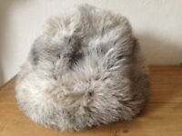 Vintage faux fur russian hat