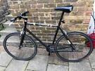 Single speed road / race bike / bicycle black large mens