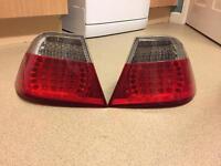 E46 Bmw coupe led rear lights